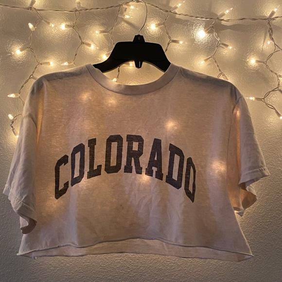 cropped colorado brandy shirt!